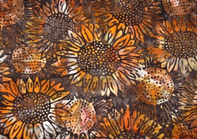 Brown Sunflowers detail